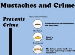 moustaches and crime