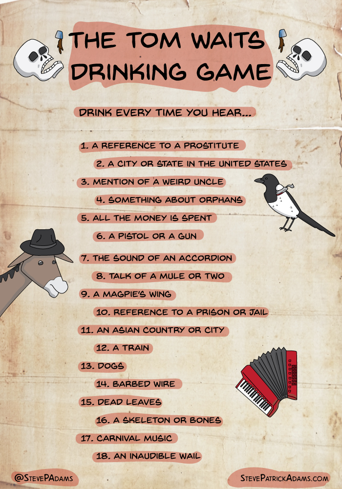 tom waits drinking game