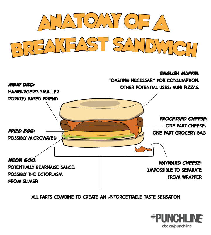 anatomy of a breakfast sandwich