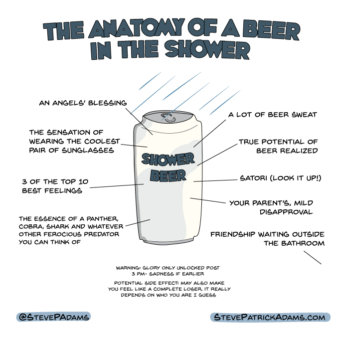 anatomy of a shower beer