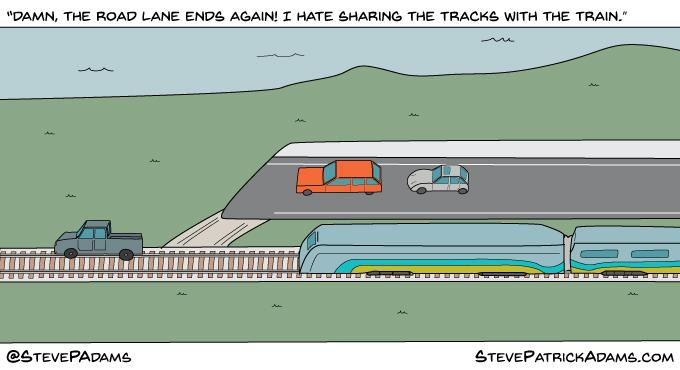 if roads were like bike lanes
